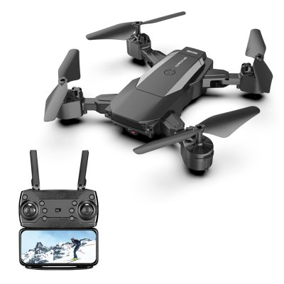 F84 Quadcopter Wireless RC Drone With 4K/5MP/0.3MP HD Camera WiFi FPV Helicopter Foldable Airplane For Children Gift Toy black_0.3MP 1B