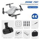 F87 Front+ Bottom Dual Camera Lens 720P/4K wifi fpv RC Drone Gray 4K dual camera