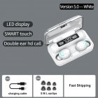 F9-5C Touch 5.0 Wireless Bluetooth Headset Ultra-Small Stealth Universal Waterproof Earphones white