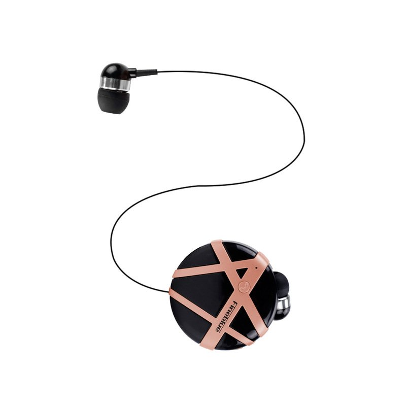 FD-55 Bluetooth Earphone Handsfree Sports Headphones Clip-on Business Headset Vibration Reminder Earbud With Micphone Black + pink
