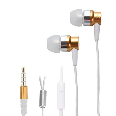 FESTORY F003 In-Ear Bass Earbuds (Gold)