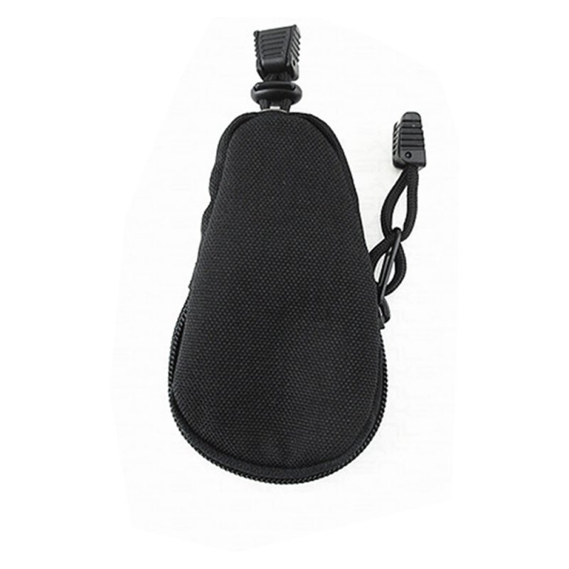 FGJ EDC Mini Key Wallet Holder 600D Nylon Coin Purses Pouch Outdoor Key bag black_One size