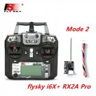 FLYSKY FS-i6X FS i6X 2.4GHz 10CH AFHDS 2A RC Transmitter X6B iA6B A8S iA10B iA6 Fli14+ Receiver for RC FPV Racing Drone Left hand single control+RX2A Pro V1