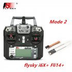 FLYSKY FS-i6X FS i6X 2.4GHz 10CH AFHDS 2A RC Transmitter X6B iA6B A8S iA10B iA6 Fli14+ Receiver for RC FPV Racing Drone Left hand single control+Fli14+