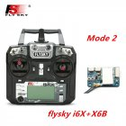 FLYSKY FS-i6X FS i6X 2.4GHz 10CH AFHDS 2A RC Transmitter X6B iA6B A8S iA10B iA6 Fli14+ Receiver for RC FPV Racing Drone Left hand single control+X6B
