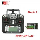 FLYSKY FS-i6X FS i6X 2.4GHz 10CH AFHDS 2A RC Transmitter X6B iA6B A8S iA10B iA6 Fli14+ Receiver for RC FPV Racing Drone Right hand single control+IA6