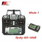 FLYSKY FS-i6X FS i6X 2.4GHz 10CH AFHDS 2A RC Transmitter X6B iA6B A8S iA10B iA6 Fli14+ Receiver for RC FPV Racing Drone Right hand single control+IA6B