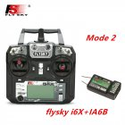 FLYSKY FS-i6X FS i6X 2.4GHz 10CH AFHDS 2A RC Transmitter X6B iA6B A8S iA10B iA6 Fli14+ Receiver for RC FPV Racing Drone Left hand single control+IA6B
