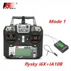 FLYSKY FS-i6X FS i6X 2.4GHz 10CH AFHDS 2A RC Transmitter X6B iA6B A8S iA10B iA6 Fli14+ Receiver for RC FPV Racing Drone Right hand single control+IA10B