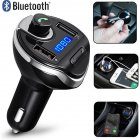 FM Transmitter Bluetooth Wireless  Radio Hands Free Car Kit Car MP3 Audio Player with USB Car Charger black