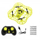 FQ777 FQ03 Mini Drone Full Shields 360 Flip One Key Return Drones Headless Mode RC Quadcopter for Beginner yellow