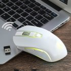FREE WOLF X9 Wireless 1600DPI Mouse White