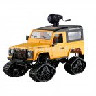 FY003 2.4G 4WD Off-Road Snowfield Wifi Control Metal Frame RC Car Snow Wheel WiFi Version Yellow_1:16