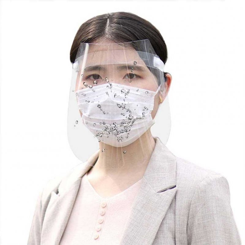 Face Shield Full Face Covering Transparent Anti Droplet Dust-proof Protect Safety Protection Visor Shield Transparent_One size