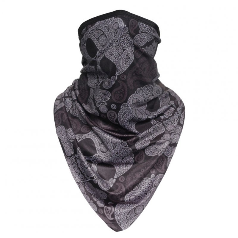 Facecloth Sport Triangle Scarf Cycling Hiking Camping Running Bike Bicycle Half Face Mask D_Free size