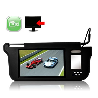Sun Visor with 9 Inch LCD Monitor