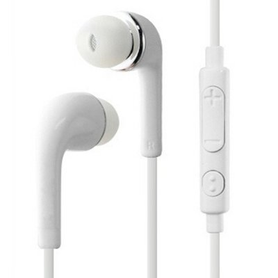 Fashion 3 5mm Earphones HiFi Stereo Headset Earbuds With Mic For Samsung  HTC Xiaomi Huawei White