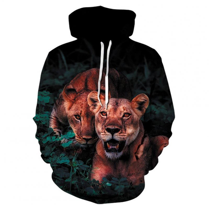 Fashion 3d Tiger Print Men Women Hoodies Shirts Casual Long Sleeves Sweatshirts Pullovers Hooded Outerwear Hoodie WE369_S