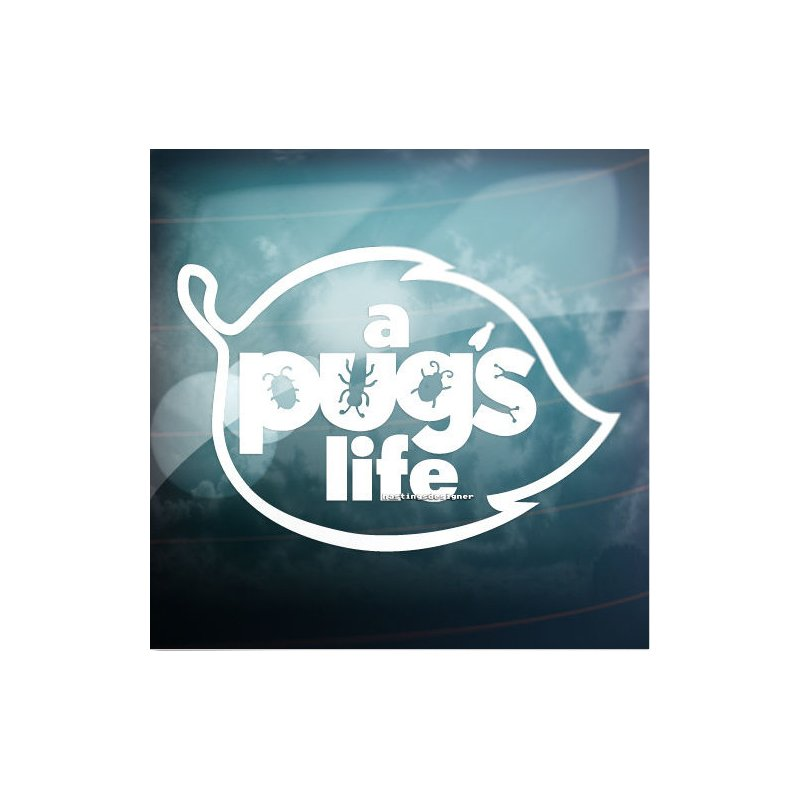 Fashion A PUG'S LIFE Letters Car Reflective Stickers Decoration