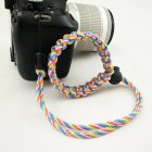 Fashion Braided Digital Camera Strap Camera Wrist Strap Hand Grip Wristband for Nikon Canon Sony Pentax Panasonic  Rainbow camouflage