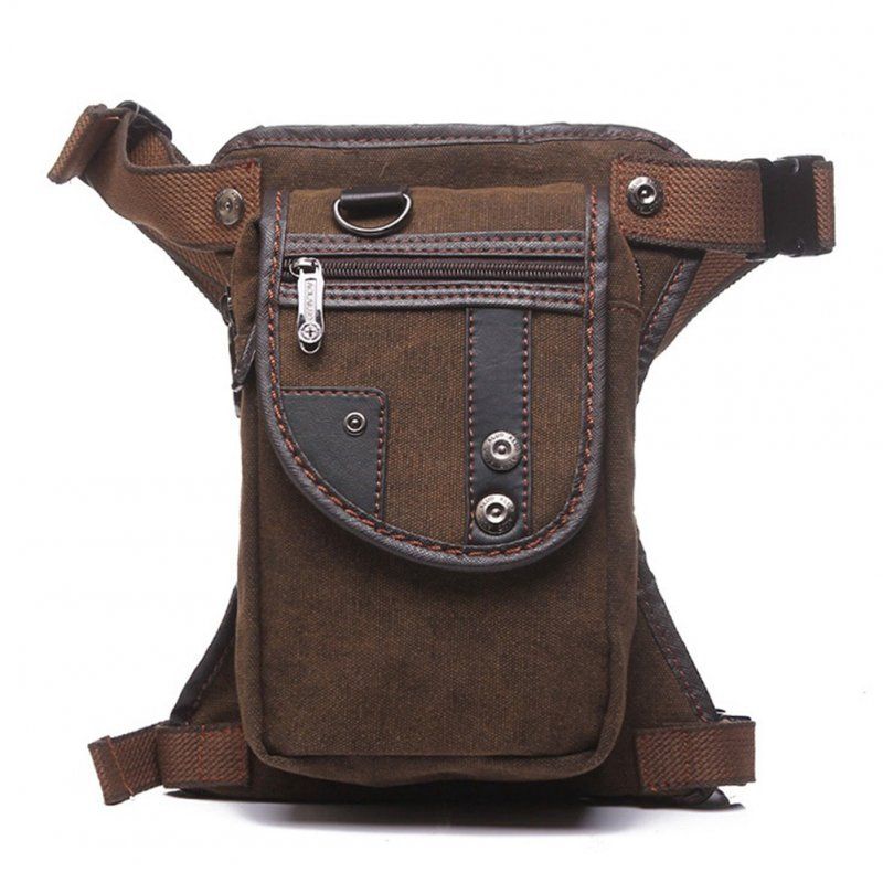 Fashion Canvas Waist Bag Multifunctional Men Messenger Bag for the Office, Traveling etc Photo Color