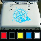 Car Compass Navigate Offroad Vinyl Sticker
