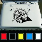 Fashion Car Compass Rose Navigate Offroad Vinyl Sticker Decal Car Auto Decoration black