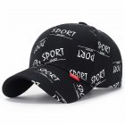 Fashion Casual Sport Letter Baseball Cap Men And Women Couple Sun Hat black adjustable