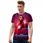 Fashion Cool Superhero 3D Digital Printing Short Sleeve T-shirt A_XXXXL