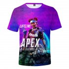 Fashion Game 3D Apex Legends Printing Short Sleeve T-Shirt  Section C_S