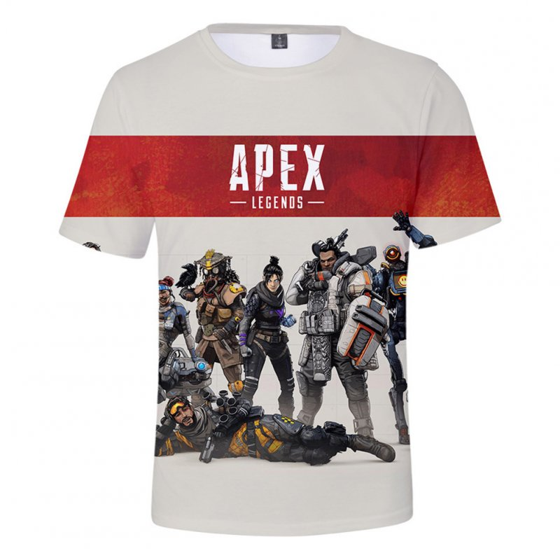 Fashion Game 3D Apex Legends Printing Short Sleeve T-Shirt  Section A_S
