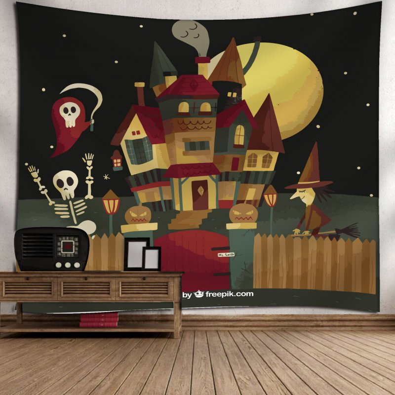 Fashion Halloween Hanging Home Tapestry Wall Decoration 17_150*130
