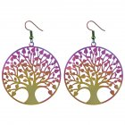 Fashion Hollow Trees of Life Dangle Earrings Chic Stainless Steel Earrings Ornaments