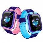 Fashion Life Waterproof <span style='color:#F7840C'>Smart</span> Phone Telephone Positioning <span style='color:#F7840C'>Watch</span> for Student Children Kids Blue English
