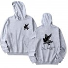 Fashion Lil Peep Series Loose Men Women Hooded Sweatshirt A-4824-WY02-1 grey_XL