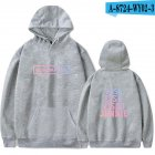 Fashion Loose Chic All-matching Unisex Hoodies Gray_XL