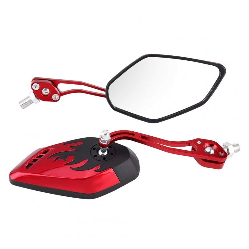 Fashion Motorcycle Refit Rear View Side Rearview Mirrors for Yamaha Suzuki Honda red