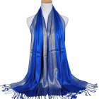 Fashion Muslim Style Gold Thread Tassel Scarf Soft Headscarf