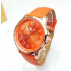 Fashion Roman Numbers Leather Belt Watch