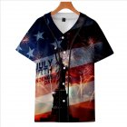 Fashion Round Collar Women Men 3D Print Vivid Color Casual T-Shirt  F_M