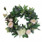 Fashion Round Wreath Lifelike Artificial Garland Flowers Door Hanging Wall Window Decoration