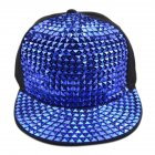 Fashion Sequin Baseball Cap Hiphop Snapback Hat for Unisex Men and Women Flat Brim Hats