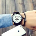 Fashion Simple Leather Watchband Couple Watch boy