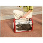 Fashion Space Capsule Pet Handbag Cat Box Transparent Bag Cage for Outdoor red_small