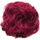 Fashion Synthetic Women Hair Pony Tail Hair Extension Bun Hairpiece Scrunchie Elastic Wedding Wave Curly  Burg