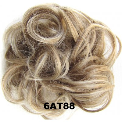 Fashion Synthetic Women Hair Pony Tail Hair Extension Bun Hairpiece Scrunchie Elastic Wedding Wave Curly  6AT88