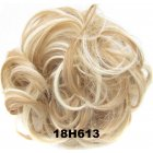 Fashion Synthetic Women Hair Pony Tail Hair Extension Bun Hairpiece Scrunchie Elastic Wedding Wave Curly  18H613