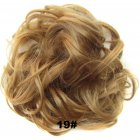 Fashion Synthetic Women Hair Pony Tail Hair Extension Bun Hairpiece Scrunchie Elastic Wedding Wave Curly  19#
