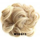 Fashion Synthetic Women Hair Pony Tail Hair Extension Bun Hairpiece Scrunchie Elastic Wedding Wave Curly  M18/613
