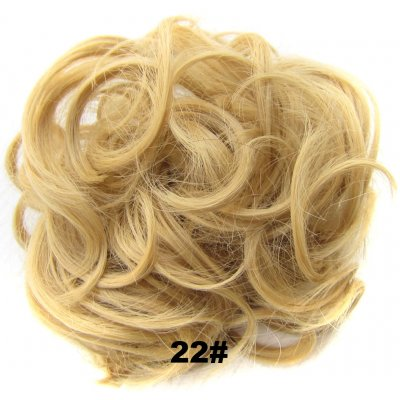 Fashion Synthetic Women Hair Pony Tail Hair Extension Bun Hairpiece Scrunchie Elastic Wedding Wave Curly  22#